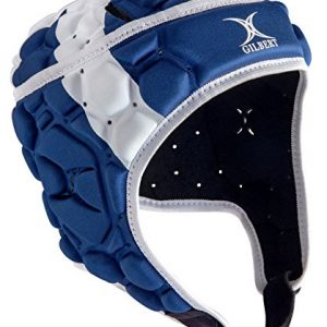 Gilbert-Falcon-200-cosse-Casque-de-Rugby-BlancBleu-taille-M-0-1