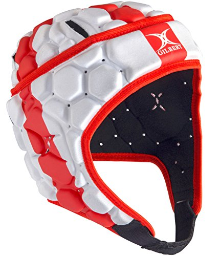 Gilbert-Falcon-200-Angleterre-Casque-de-Rugby-RougeBlanc-taille-L-0