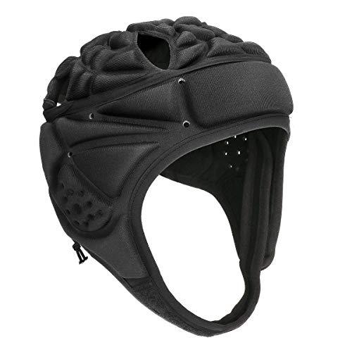 Powcan-Casque-de-Rugby-Casque-de-Protection–Coque-Souple-Rugby-Head-Guard-Helmet-Casque-de-Protection-rembourr-Casque-de-Gardien-Casque-de-Gardien-rglable-pour-de-Football-Roller-Patinage-Noir-0